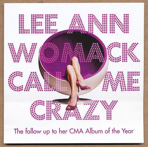 Lee Ann Womack Call Me Crazy RARE promo sticker 2008