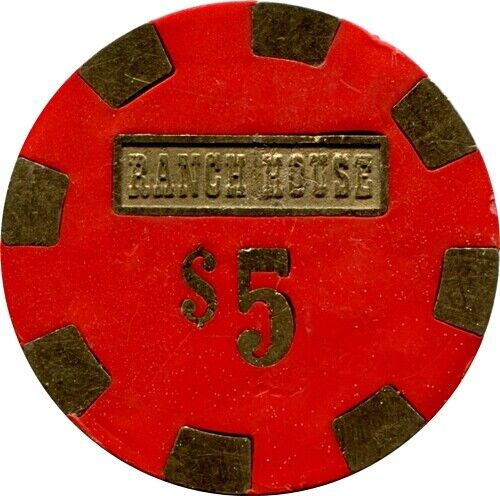 Ranch House, Wells, $5 Casino Chip