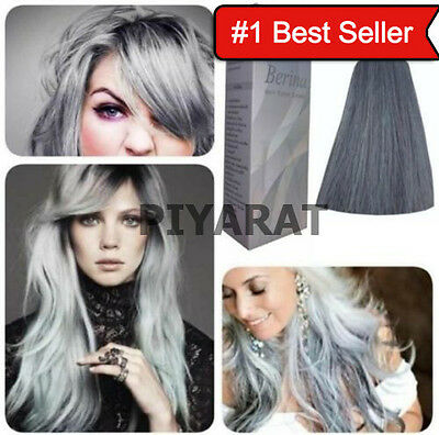 BEST 2x BERINA HAIR COLOUR CREAM HAIR DYE LIGHT GRAY SILVER A21 PROFESSIONAL