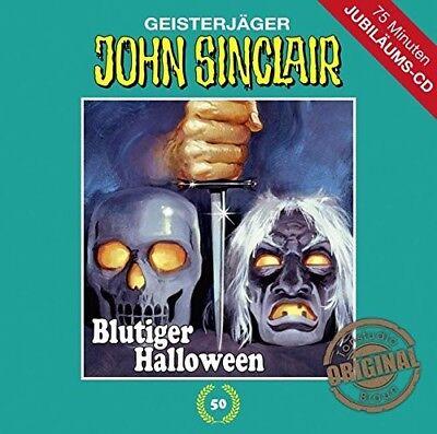 JOHN SINCLAIR - TONSTUDIO BRAUN - FOLGE 50: BLUTIGER HALLOWEEN   CD NEW - Blutiger Halloween John Sinclair