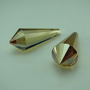 Free-10PCS-8611-Golden-Shadow-Czech-Crystal-Teardrop-Bead-findings-Pendant-20mm