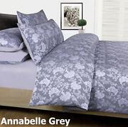 King Quilt Cover Set Grey