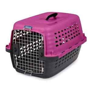 Hot pink puppy/cat plastic carrier