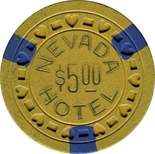 Hotel Nevada, Ely $5 Casino Chip