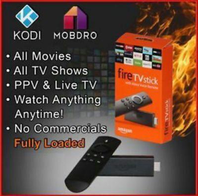 New Amazon Fire Stick  Alexa Voice Remote W  Kodi Over 1000 Firesticks Sold