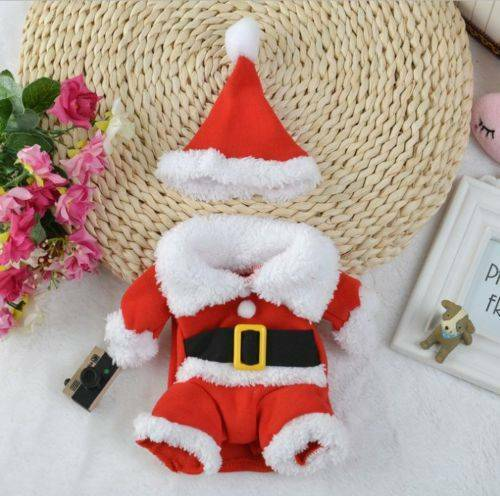 Christmas Pet Small Puppy Dog Cat Santa Claus Cape Coat Costume Outfit Cosplay 10