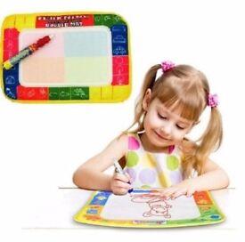 Kids Toys Water scrawl Mat Drawing Painting Writting Magic Pen for Childrens