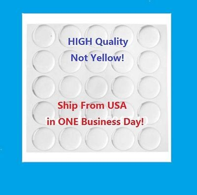 US Seller! HIGH QUALIT Dome Circle Clear Epoxy Stickers for Bottle Cap - Epoxy Stickers