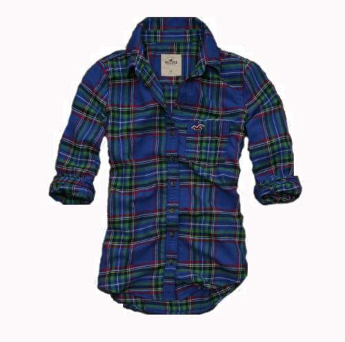 Hollister plaid shirt women ebay for Plaid shirts for women