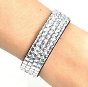 Rhinestone Crystal Bangle Bracelet