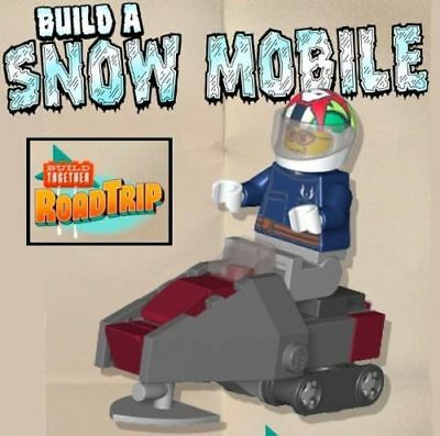 Constructibles Snowmobile Mini Model   Lego Parts   Instructions Kit
