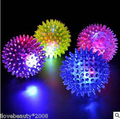 HOT Flashing Light Up High Bouncing Balls Sensory Hedgehog Ball Toys Novelty Kid