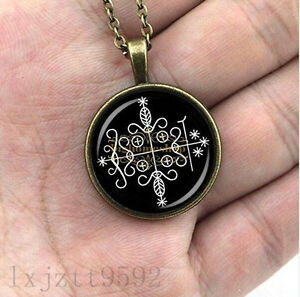 papa legba voodoo pendant ritual altar pendant occult medallion diy jewelry glas