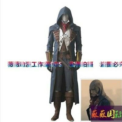 Assassin's Creed 5:Unity Arno Victor Dorian Cosplay Costume Gray Outfit suit set - Assassin Creed Suits