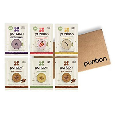 Purition Dairy-Free Vegan Trial Box  High Protein Meal Replacement Shake or Smo