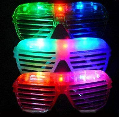 3 pieces Slotted Light Up Flashing LED Novelty Sunglasses Birthday Party Gift - Led Sunglasses Wholesale