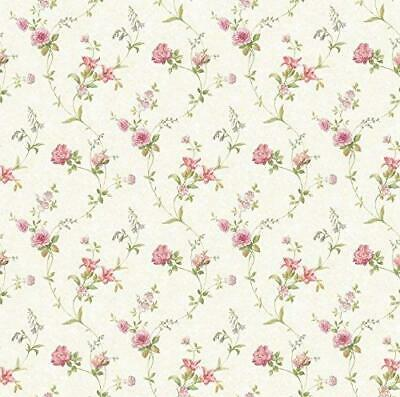 Wallpaper Cream Background Tiger Lily Trail Floral Pink Rose - Trail Wallpaper