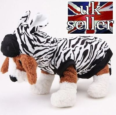 Zebra Halloween Pijamas For Small Dogs Puppies Chihuahua Pomeranian Pug Shih Tzu - Shih Tzu Halloween Costumes