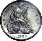 Silver 1860 Year Seated Liberty US Dollars (1840-1873)