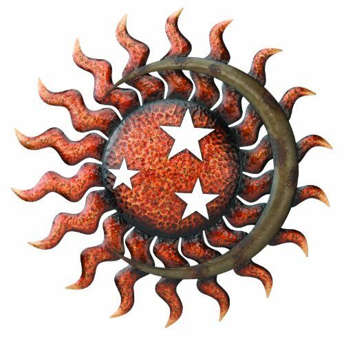 Garden Wall Art Sun Moon Stars Metal ...