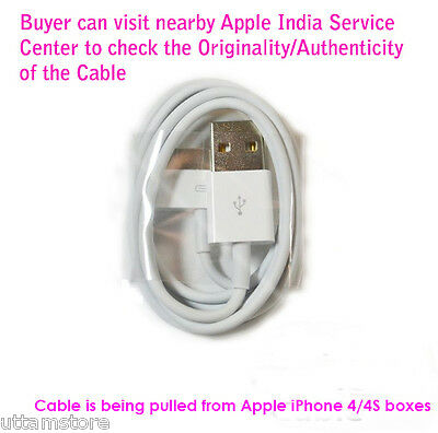 100% Original 30-pin to USB Data Sync Cable/Charge for Apple iPhone 4 4S 3GS for sale  DELHI