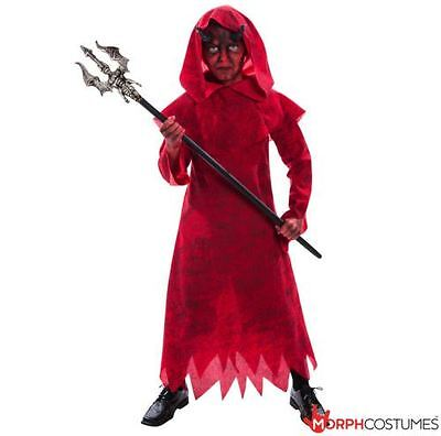 Boys Red Evil Warlock Devil Warlord Wizard  Fancy Dress Costume for Halloween - Wizard Costume For Boy