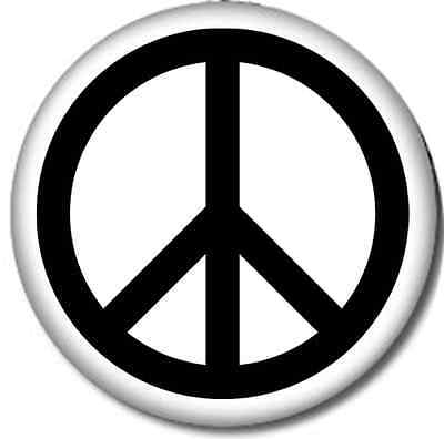 Peace Sign Pin-Back Button Pin 6 Sizes Classic Hippy Love Woodstock 70s Hippie