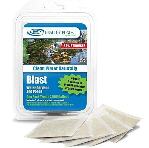 Healthy Ponds 60008 Blast Pond Water Cleaner, 5 Water Soluble Packets; Each