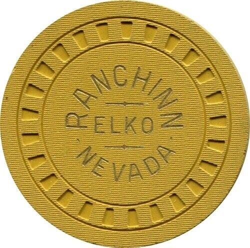 Ranchinn, Elko $100 Casino Chip  MINT R7 Very Rare 16-30