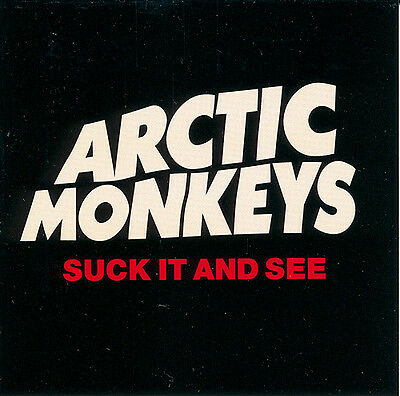 Arctic Monkeys Suck It And See RARE promo sticker '11