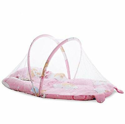 Portable Folding Baby Lounger with Pillow and Full Visibility Mosquito Net