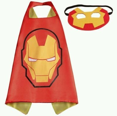 Halloween Costume Superhero Iron Man Cape and Mask for Kids Unisex Boy Girl - Girl Iron Man Halloween Costume