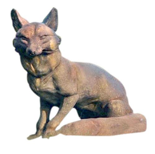 """Fox Garden Sculpture Statue 19"""""""