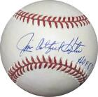 Catfish Hunter Autographed Baseball