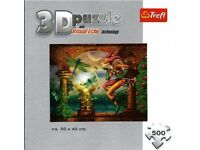 Puzzle. Trefl - Visual Echo Technology - 500 piece 3D Magic Puzzle: Contemplating the System