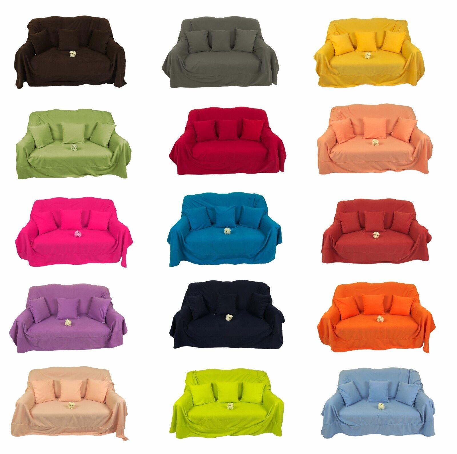 Fleecedecke Kuscheldecke Tagesdecke Wohndecke Decken Sofadecke XL XXL 17 Farben
