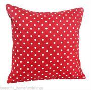 Red Polka Dot Cushion