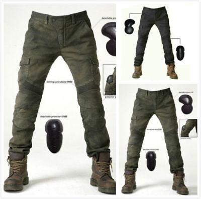 Männer Jeans Motorrad Hosen ausgestattet Motorrad Denim Hose Off Road Pad DE ()
