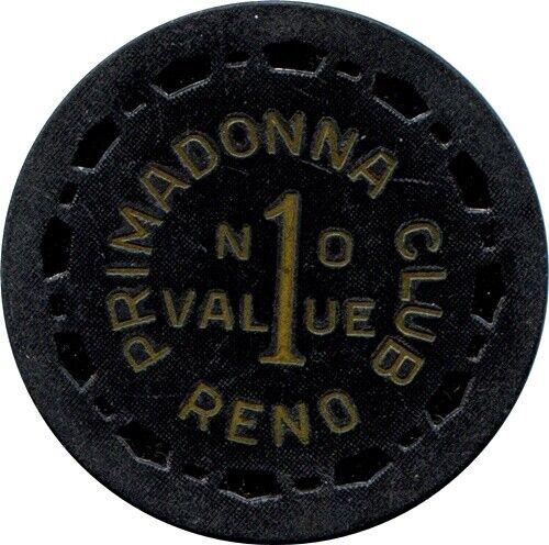 Primadonna, Reno $1.00 Casino Chip