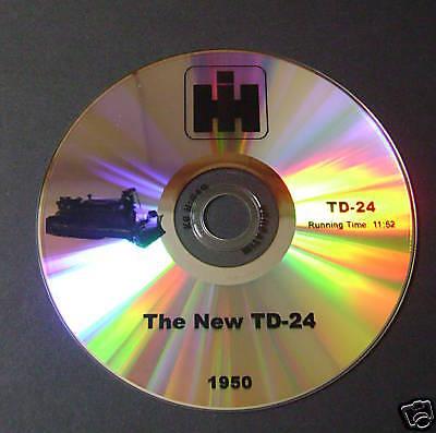 New Sales Dvd For International Harvester Td24 Crawler 1950