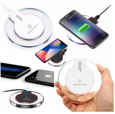 Qi Wireless Charger Charging Dock Pad For Samsung Galaxy Apple iPhone 8,X, S8,S9