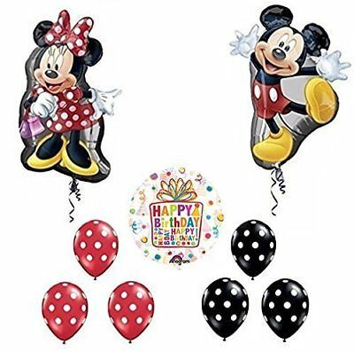 Mickey and Minnie Mouse Full Body Birthday Supershape Balloon - Mickey And Minnie Balloons