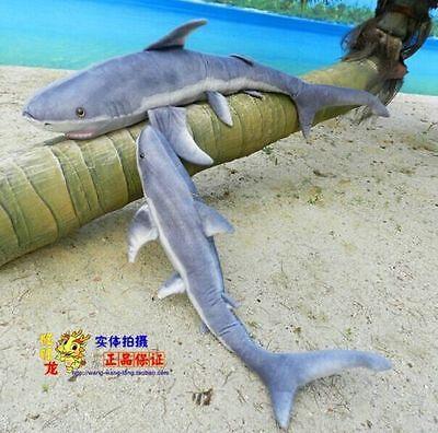 Shock  55 Giant Blue Shark Plush Kids Toy Big Stuffed Animals Xmas Gift 140Cm