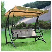 New Outdoor 3 Seats Steel Swing Chair with  Hanging Canopy Roof B Heidelberg West Banyule Area Preview