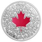 Coloured Silver Maple Leaf Coin
