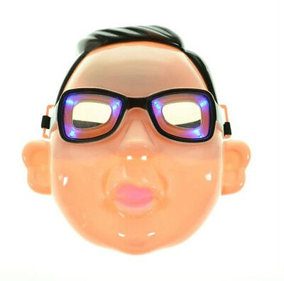 Gangnam Style LED PSY mask Halloween Costume Prop Super Hero Party Costume Toy