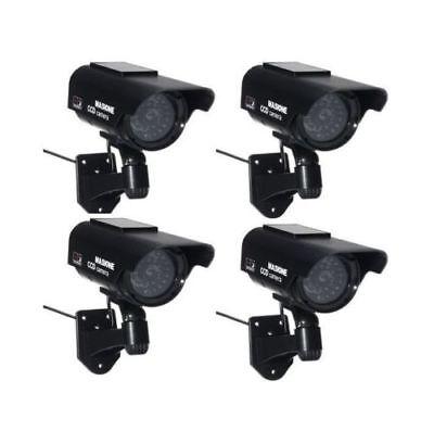 4x Fake Solar Powered Security Surveillance Dummy CCTV Camera W/ Flashing LED