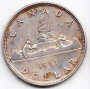 1951 Canadian Silver Dollar