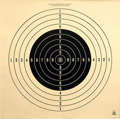 C-2 [A-29] Official NRA 200 Yard International Rifle Target, 28