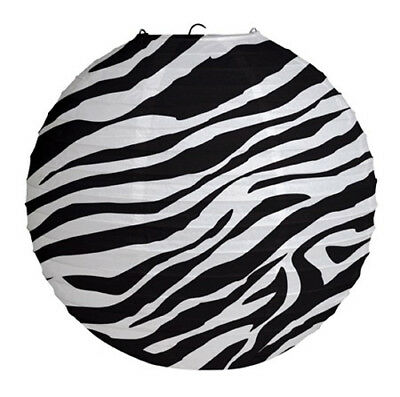 ZEBRA STRIPES Animal Print PAPER LANTERN ~ Birthday Party Supplies Decoration (Animal Print Paper)